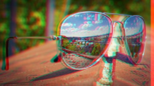 D Glasses Filter Red Blue Photoshop