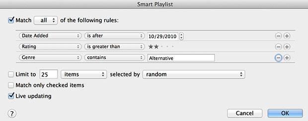 create a smart list