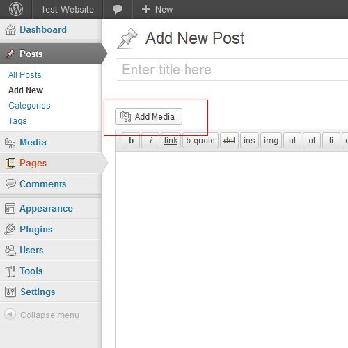 Wordpress 3.5 Add Media Button with new Post