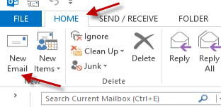 Compose email in outlook