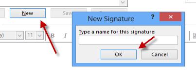 create a new signature