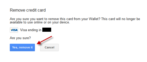 confirm delete credit card