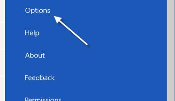 windows 8 calendar options