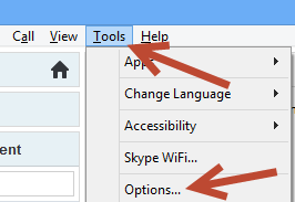 skype tool options