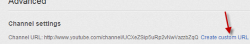create channel custom url