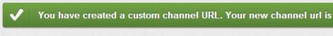 successful create a custom youtube url