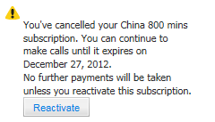 cancel subscription success