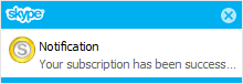 cancel subscription notification