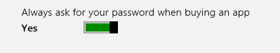 turn off password prompt when purchase app