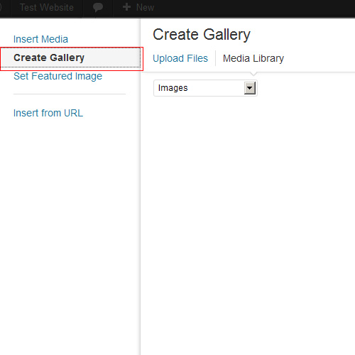 Wordpress 3.5 Create Gallery Button