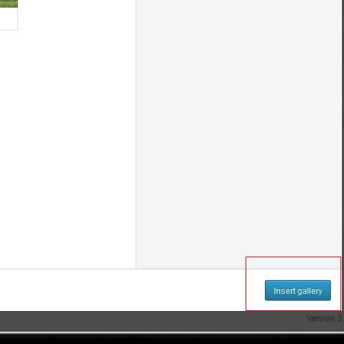 wordpress 3.5 create the gallery button