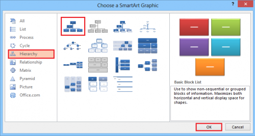 powerpoint or word 2013: create a family tree, Modern powerpoint