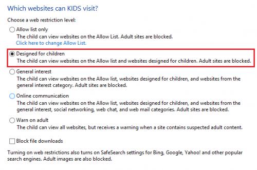 windows block adult content children