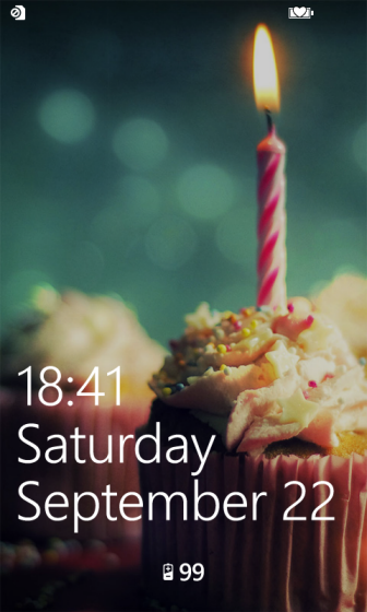 windows phone 8 lock screen