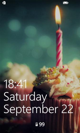 windows phone 8 lock screen