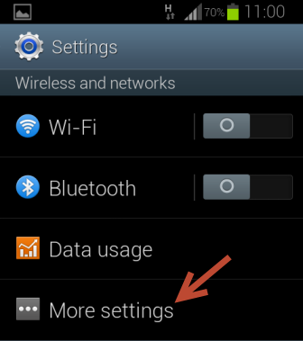android settings wireless and networks