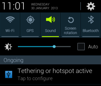 android active tethering notification