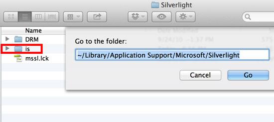 silverlight's cache folder