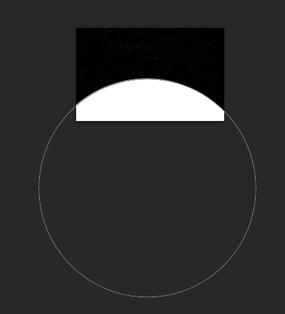 draw in huge circle at the bottom of your document