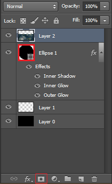 Ctrl click on the circle in the layer palate