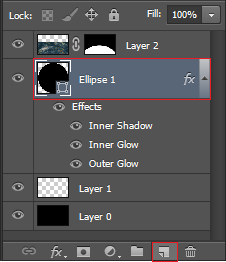 Select the ellipse layer and hit create new layer