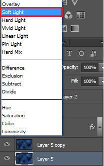 set the bottom one to soft light