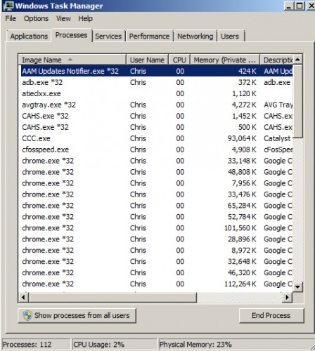 Windows 7 Task Manager