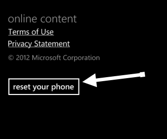 reset windows phone 8