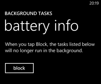 block windows phone 8 tasks
