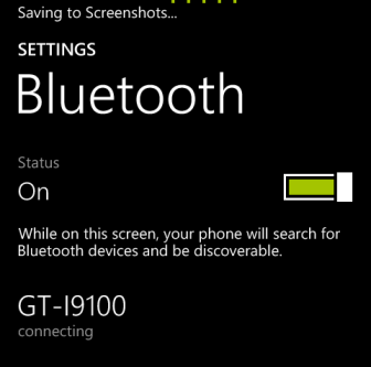 windows phone 8 pair blue tooth device