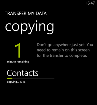 windows phone 8 transfer contacts