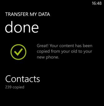 finish copy contact windows phone 8