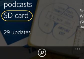 windows phone store sd card option