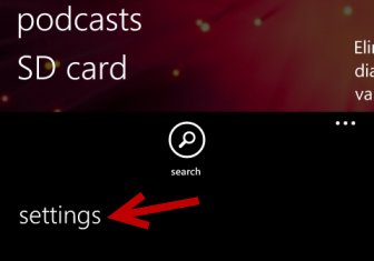 windows phone 8 store settings
