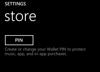 windows phone 8 store PIN code
