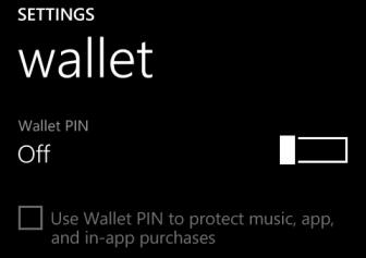 windows phone 8 wallet pin