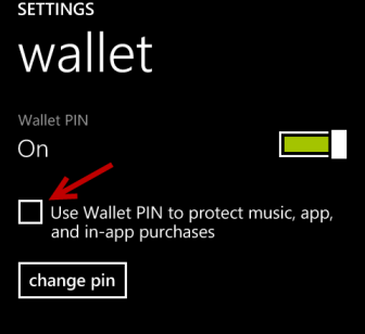use wallet pin to protect music, app, in-app purchases