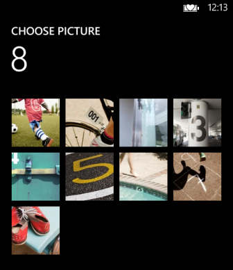 windows phone 8 choose picture background