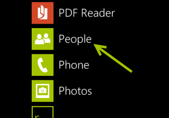 windows phone 8 people app