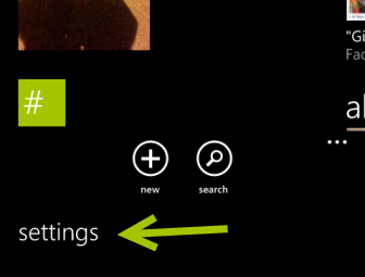 windows phone 8 people app settings