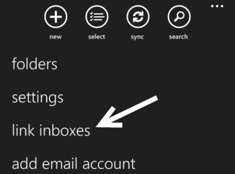 windows phone 8 inbox settings