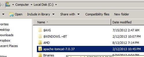 Tomcat 7 Folder