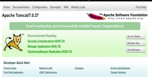 Apache Tomcat Success install