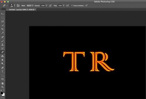 copy then duplicate layer style onto every other letter.