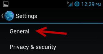 android browser general settings