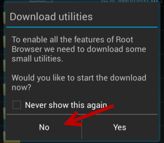 download root browser utilities