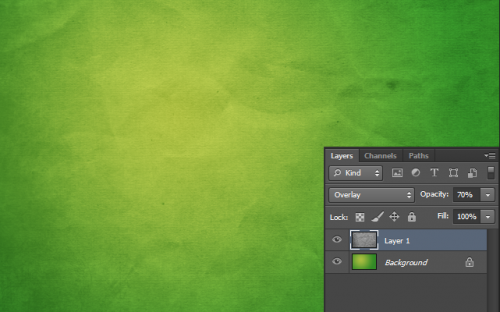 Change the opacity of the desaturated texture to 70%