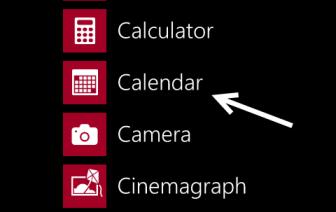 windows phone 8 calendar