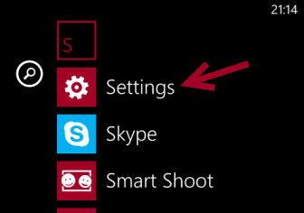 windows phone 8 settings