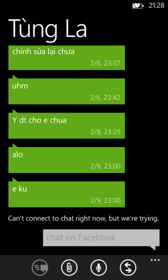 windows phone 8 normal text size